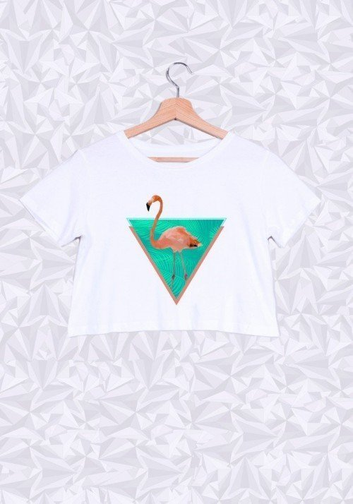 Flamand Rose Crop Top