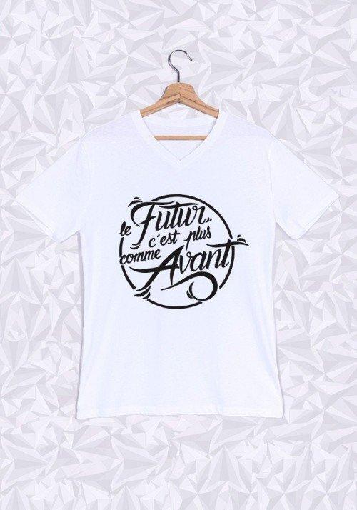 Le futur c'est plus comme avant T-shirt Homme Col V
