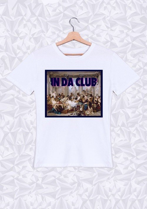 In Da Club T-shirt Homme Col Rond