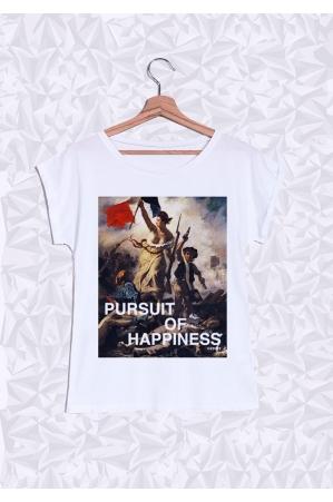 Pursuit of Happiness T-shirt Femme Manches Retroussées