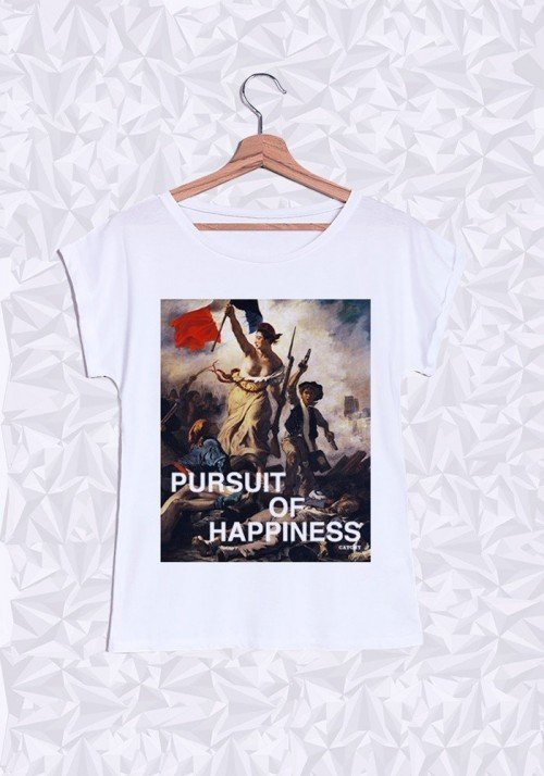 Pursuit of Happiness T-shirt Femme Manches Retroussées