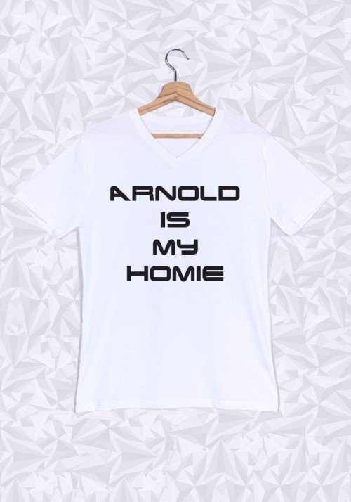 Arnold is My Homie T-shirt Homme Col V