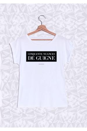 50 Nuances de Guigne T-shirt Femme Manches Retroussées