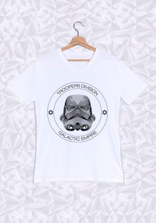 Troopers division T-shirt Homme Col V
