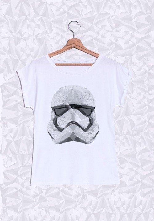 Polygon Trooper T-shirt Femme Manches retroussées