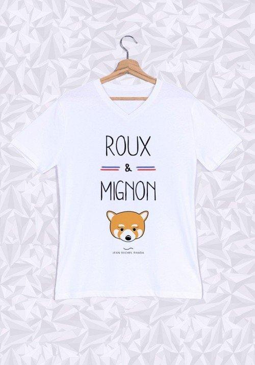 Roux et Mignon T-shirt Homme Col V