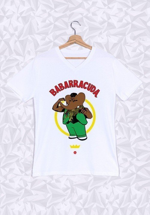 Babarracuda T-shirt Homme Col V