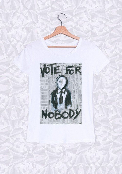 Vote For Nobody T-shirt Femme Col Rond
