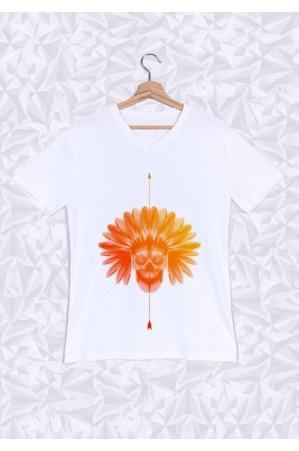 Indien T-shirt Homme Col V