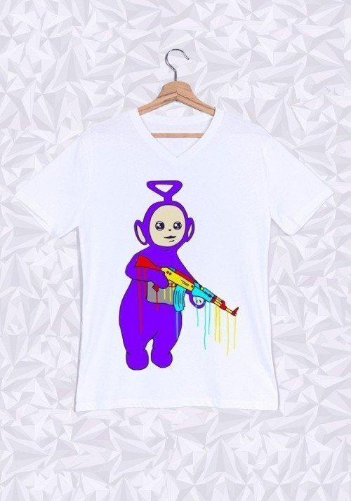 Bad Tubbies T-shirt Homme Col V