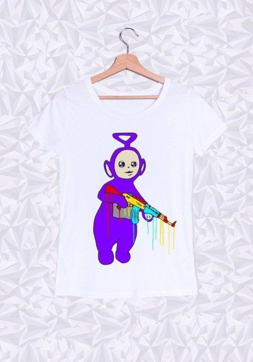 Bad Tubbies T-shirt Femme Col Rond
