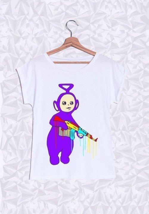 Bad Tubbies T-shirt Femme Manches Retroussées