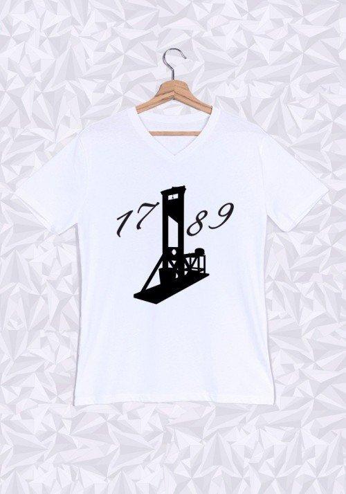 1789 T-shirt Homme Col V