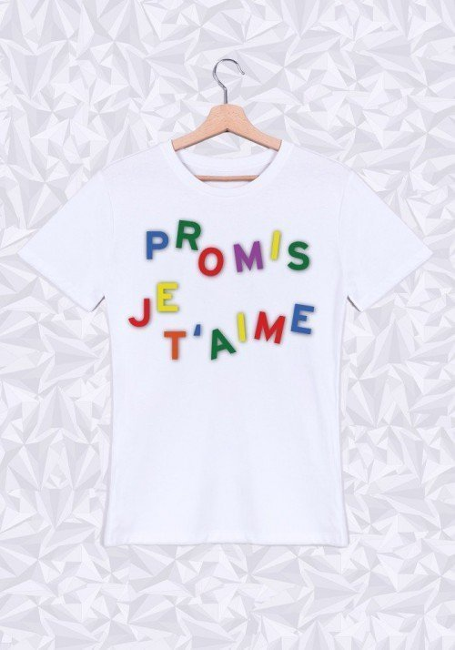Promis je t'aime T-shirt Homme Col Rond