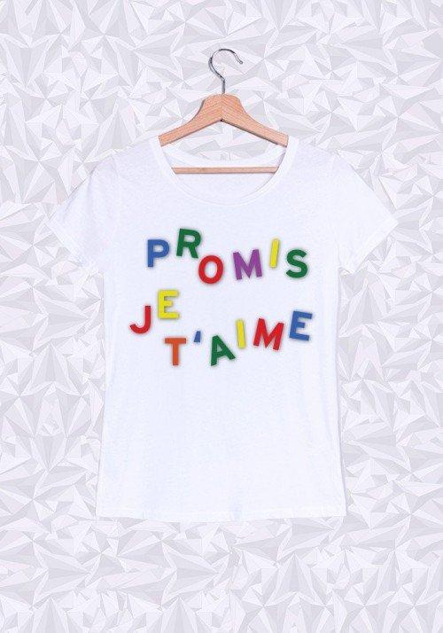Promis je t'aime T-shirt Femme Col Rond