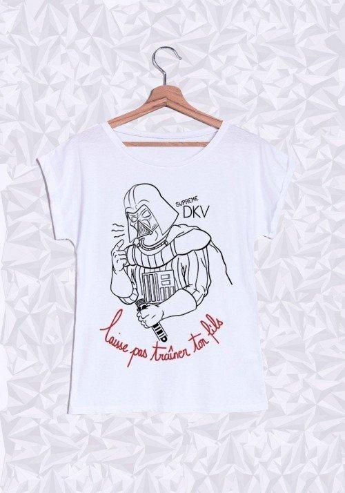 Supreme Dark T-shirt Femme Manches Retroussées