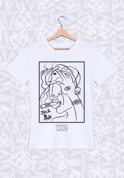 Jay Z Picasso T-shirt Homme Col Rond