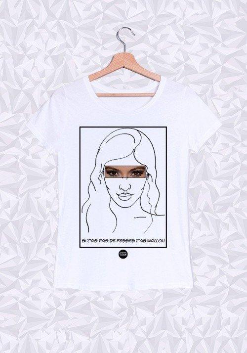 Kim Kardashian T-shirt Femme Col Rond