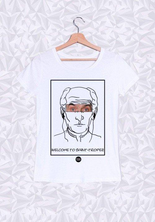 Louis De Funès T-shirt Femme Col Rond