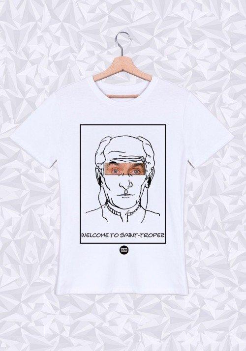 Louis De Funes T-shirt Homme Col Rond