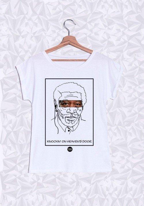 Morgan Freeman T-shirt Femme Manches retroussées