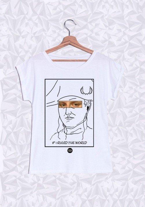 Napoleon T-shirt Femme Manches Retroussées