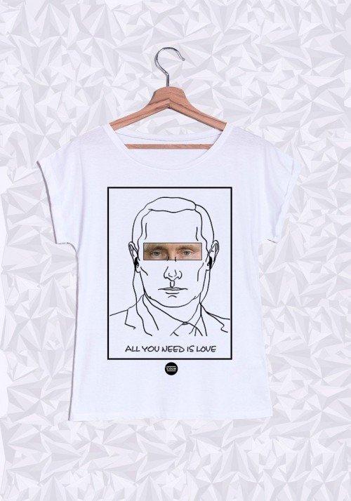 Poutine T-shirt Femme Manches Retroussées