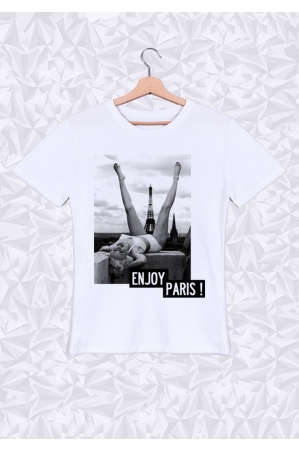 Enjoy Paris T-shirt Homme Col Rond