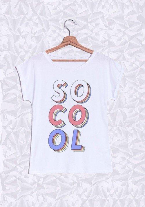 So Cool T-shirt Femme Manches Retroussées