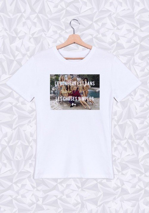 Le Bonheur est dans les choses simples T-shirt Homme Col Rond