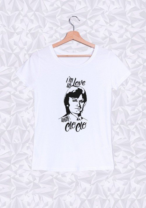 I'm in Love with Cloclo T-shirt Femme Col Rond