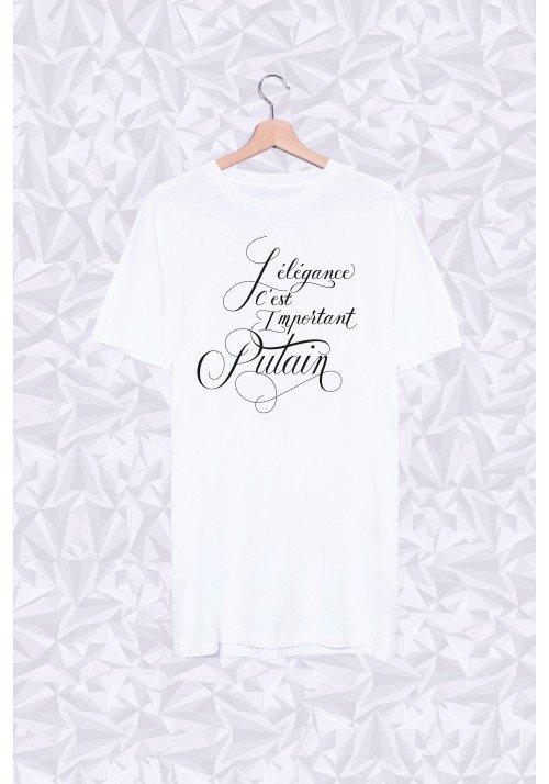 Long Shirt L'élégance c'est important putain