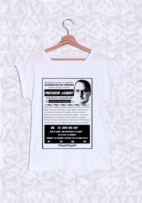 Professeur Jacquot T-shirt Femme Manches Retroussées
