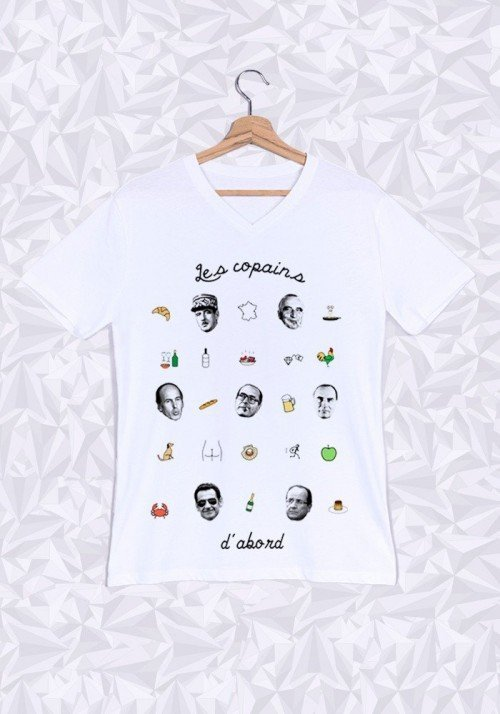 T-shirt homme col v Les Copains