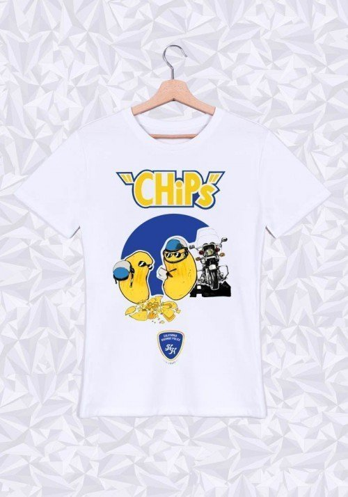 Le Chips T-shirt Homme Col Rond
