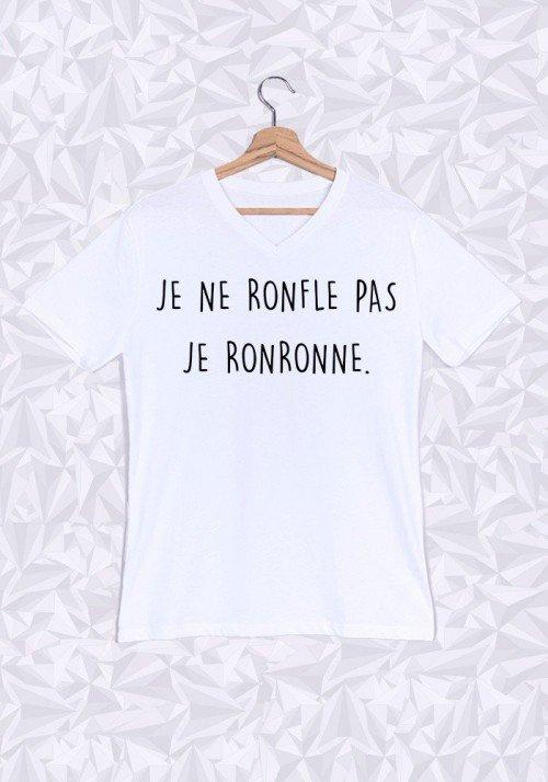 Je ne ronfle pas T-shirt Homme Col V
