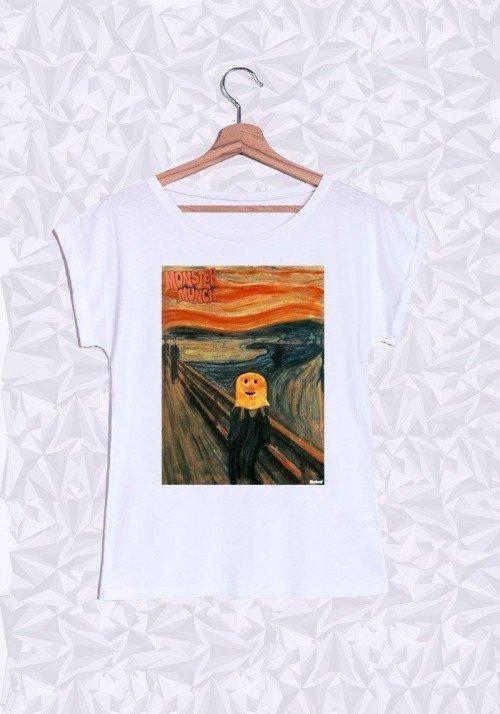 Monster Munch T-shirt Femme Manches Retroussées