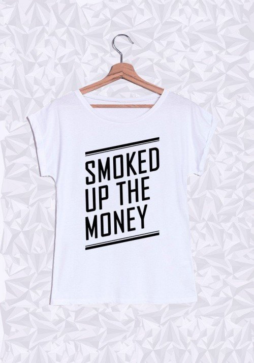 Smoked Up T-shirt Femme Manches Retroussées