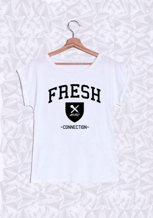 Fresh Connection T-shirt Femme Manches retroussées