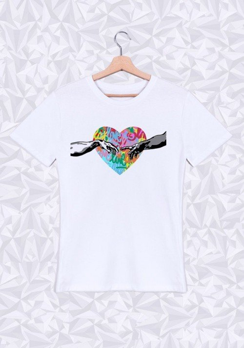 Love T-shirt Homme Col Rond