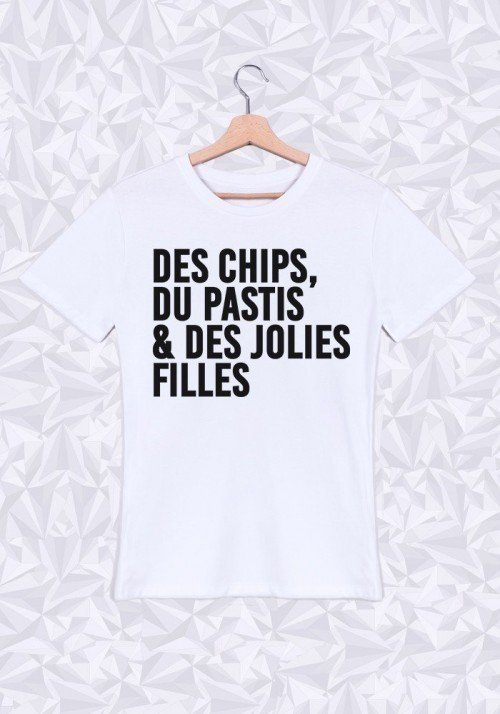 Chips Pastis T-shirt Homme Col Rond