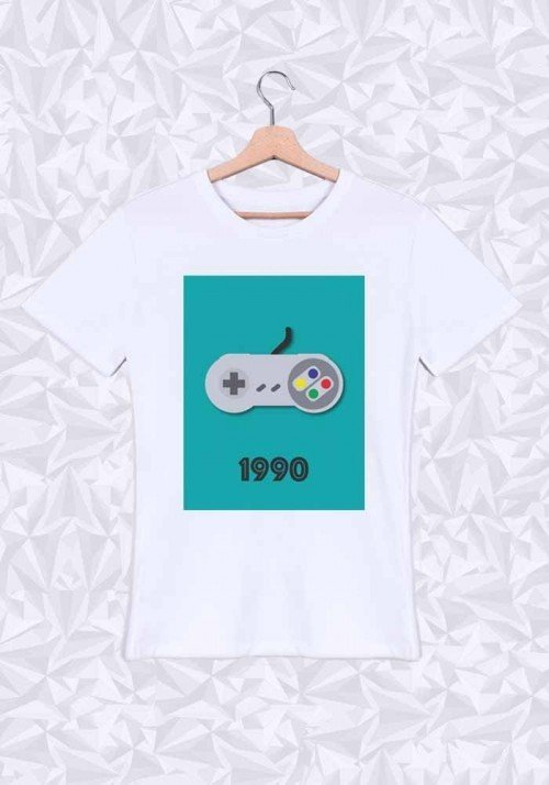 1990 T-shirt Homme Col rond
