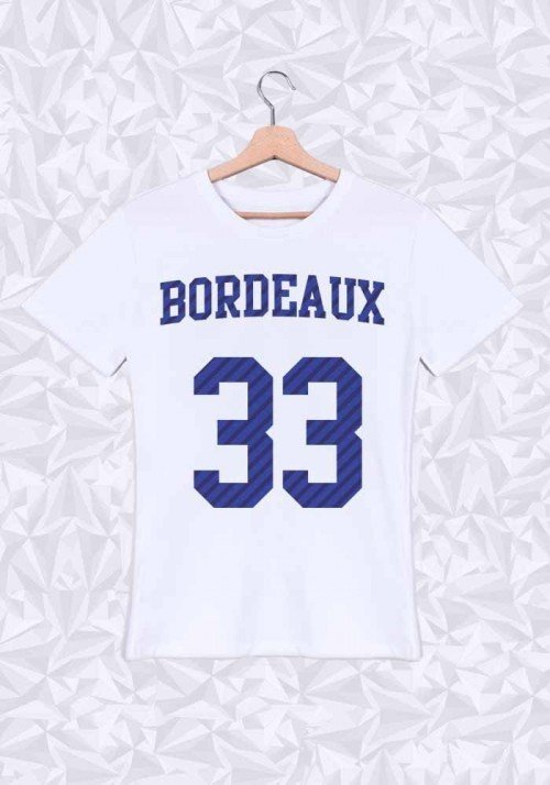 Bordeaux T-shirt Homme Col rond