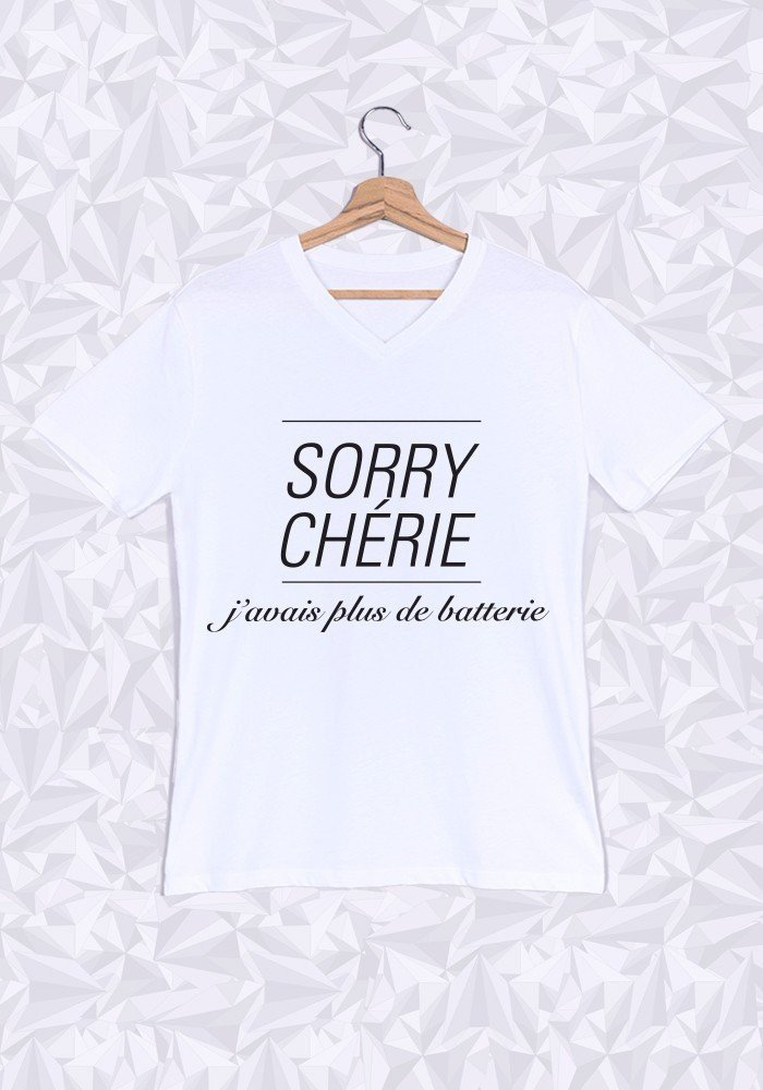 Tshirts Homme Sorry Chérie