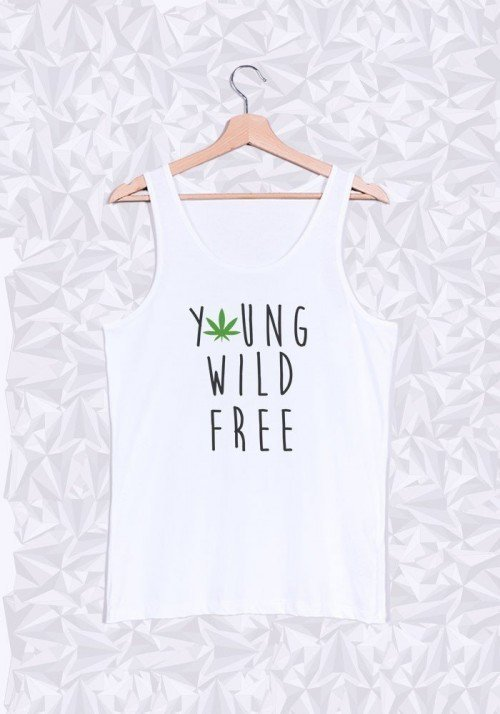 Young Wild and Free Débardeur Homme