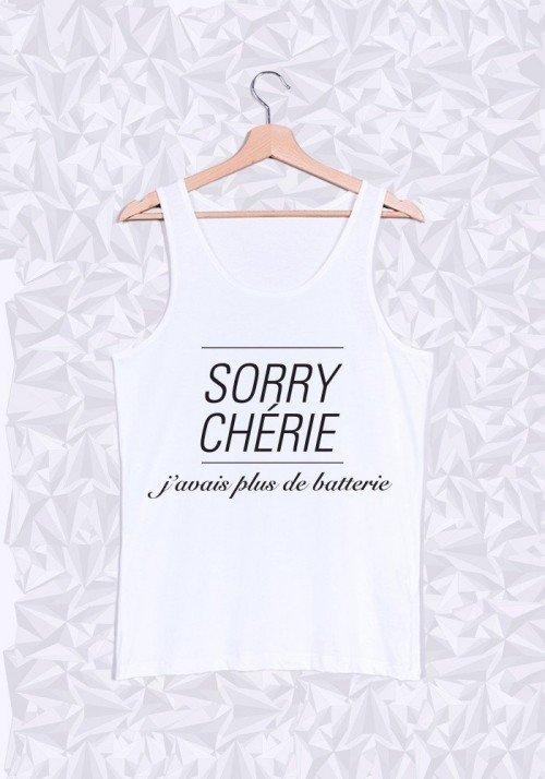 Promis Sorry Chérie Débardeur Homme