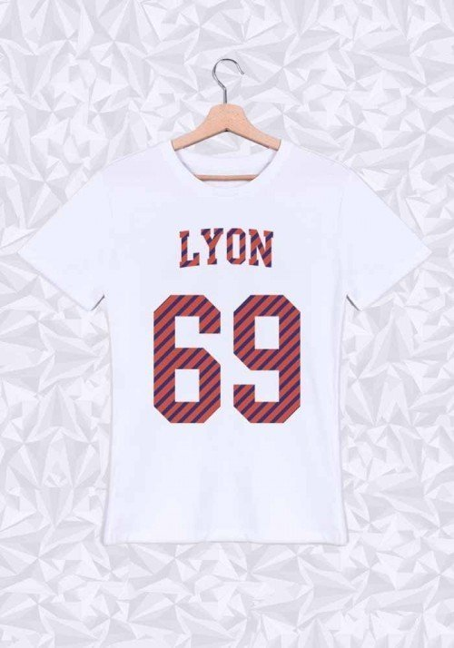 Lyon T-shirt Homme Col rond