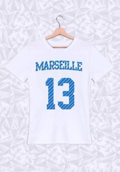 Marseille T-shirt Homme Col rond